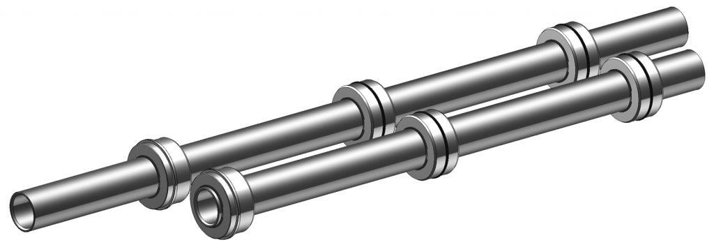 Abbildung: Verlängertes Reduzierrohr in Richtung Stangenlader